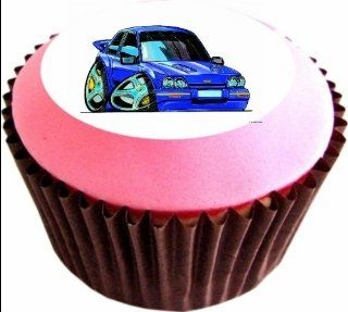 FORD FIESTA TURBO 12 x 38mm (1.5 Inch)Cake Toppers Edible wafer paper 882   Decorative Cake Toppers