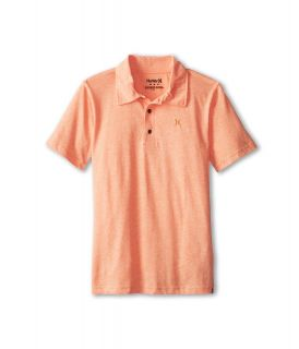 Hurley Kids Dialed Triblend Polo Boys Short Sleeve Pullover (Orange)