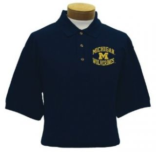 Michigan Men's Embroidered Pique Polo Shirt (XX Large)  Sports Fan Polo Shirts  Clothing