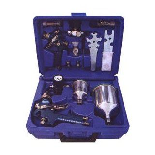 NESCO (NP870 C) HVLP Spray Gun Kit, kit contains NP 870 HVLP spray gun, NP806 Detail Gun, .6L aluminum cup. .25L aluminum cup, air regulator with guage, mini air regulator with guage, large and small cup adapters, spanner wrench, brush kit and deluxe stora
