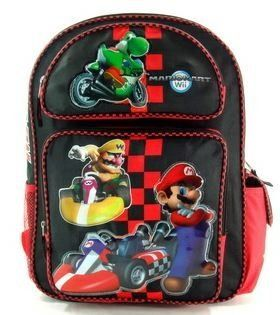 "16"" Super Mario Brothers Backpack Yoshi Riding tote bag Toys & Games"
