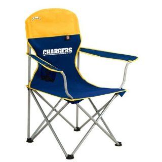 San Diego Chargers NFL Deluxe Folding Arm Chair by Northpole Ltd.  Sports & Outdoors