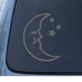 MOON & STARS   Sky Space   Car, Truck, Notebook, Vinyl Decal Sticker #1025  Vinyl Color Silver Automotive