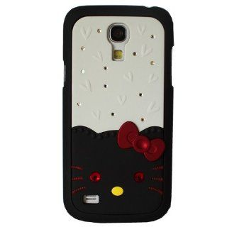 Moka Hard Plastic White Hello Kitty Design with Rhinestone Back Case Cover for Samsung Galaxy S4 Mini i9190 Cell Phones & Accessories