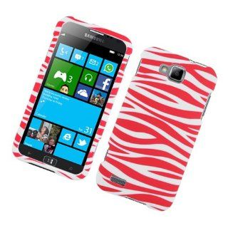 Samsung ATIV S T899M SGH T899M Pink White Zebra Stripe Cover Case Cell Phones & Accessories