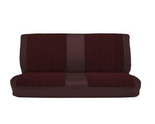 Acme U1001 899L Front Maroon Vinyl Bench Seat Upholstery with Burgundy Regal Velour Pleated Inserts Automotive