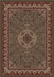 Istanbul Isfehan 10' 11 x 15' green Area Rug   Machine Made Rugs