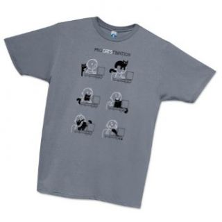 Shirt.Woot   Men's ProCATStination T Shirt   Slate Clothing