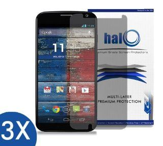 Halo Screen Protector Film Clear Matte (Anti Glare) for Moto X (3 Pack)   Lifetime Replacement Warranty Cell Phones & Accessories
