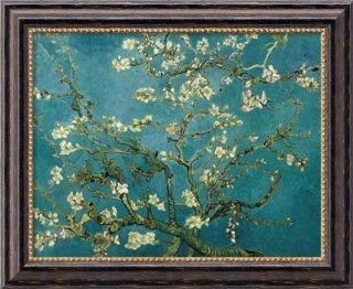 "Almond Blossom, 1890 by Vincent Van Gogh, Framed Canvas Art   19.97"" x 23.97""   Prints"