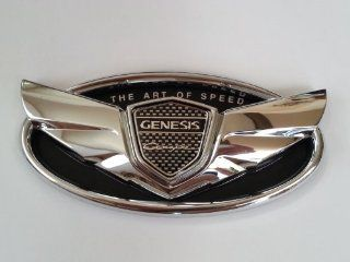 "2010 2012 2013 Hyundai Genesis Coupe ""The Art of Speed"" Chrome Custom Wing Badge Emblem for Trunk or Grill Automotive"