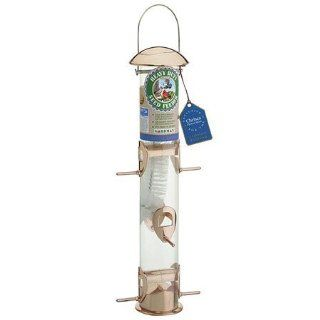 New   Copper Tube Bird Feeder by Gardman  Wild Bird Feeders  Patio, Lawn & Garden