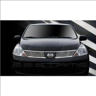 SES Trims Chrome Billet Upper Grille 07 09 Nissan Versa Automotive