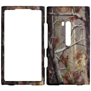 Nokia Lumina 920   Camo Camouflage Autum Shinny Gloss Finish Hard Plastic Cover, Case, Easy Snap On, Faceplate. Cell Phones & Accessories