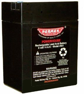 Parmak 901 6 Volt Gel Cell Battery for Solar Powered Electric Fences  Agricultural Livestock Electric Fence Chargers  Patio, Lawn & Garden