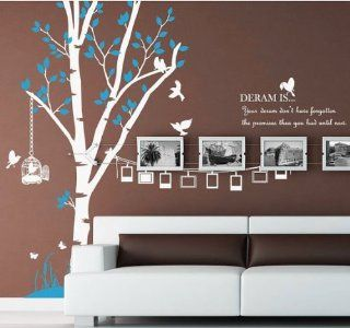 Family Photo Frame Tree Trees Birds Cage Home Wall Decal Stcker Decals Decor Bedroom Room Vinyl Romoveralble 902