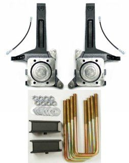 "Toyota Tundra 2 Wheel Drive Lift Kit 3.5 inch Spindle and 2"" Fabricated Steel Blocks Automotive"