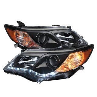 Spyder Auto (PRO YD TCAM12 DRL BK) Toyota Camry Black Projector Headlight with LED Daytime Running Light Automotive