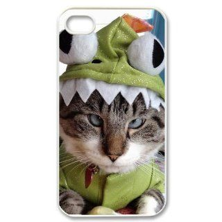 Custom Because Cats Cover Case for iPhone 4 4s LS4 934 Cell Phones & Accessories