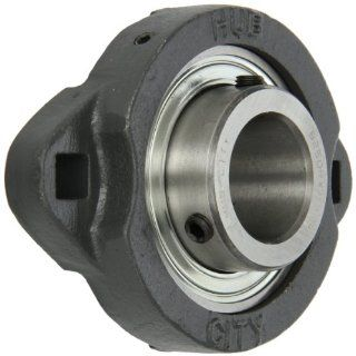 "Hub City FB110URX1 1/4 Flange Block Mounted Bearing, 2 Bolt, Light Duty, Non Relube, Setscrew Locking Collar, Narrow Inner Race, Ductile Housing, 1 1/4"" Bore, 1.44"" Length Through Bore, 3.937"" Mounting Hole Spacing Industrial & Scientif"