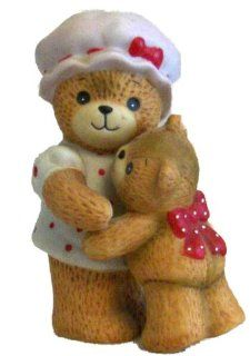 Lucy and Me   Mother Bear Hugging Baby Bear E4733   Collectible Figurines