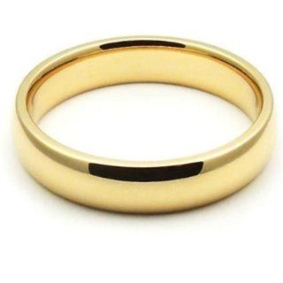 14k Yellow Gold 4mm Comfort Fit Dome Wedding Band Super Heavy Weight Wedding Bands Wholesale Jewelry