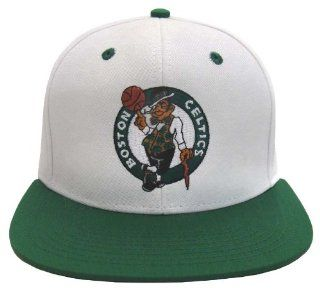 Boston Celtics Retro Logo Snapback Cap Hat Larry Bird McHale White Green