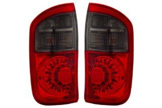 Toyota Tundra Red Smoke LED Tail Lights   Fits Limited,SR5 Extended Cab Pickup 4 Door Automotive