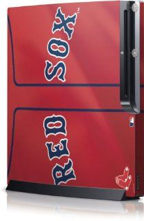 MLB   Boston Red Sox   Boston Red Sox Alternate/Away Jersey   Sony Playstation 3 / PS3 Slim (4th Gen)(160/250GB)   Skinit Skin  Sports Fan Video Game Accessories  Sports & Outdoors