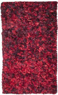 Safavieh SG951E Shag Collection Area Rug, 6 Feet by 9 Feet, Red/Multi