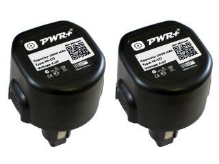 Pwr+� 2 Pack 9.6v Battery for Dewalt Dw9061, Dw9062, De9036, De9062, Dw9614, Dw050, Dw902, Dw911, Dw921, Dw926, Dw926k, Dw926k2, Dw926k 2, Dw955, Dw955k k2, Dw967k; Black & Decker PS120 Fire Storm Replacement Power Tool Battery 2Ah Computers & Acc
