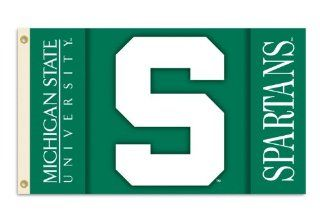 NCAA Michigan State Spartans 2 Sided 3 by 5 Foot Flag with Grommets  Sports Fan Outdoor Flags  Sports & Outdoors