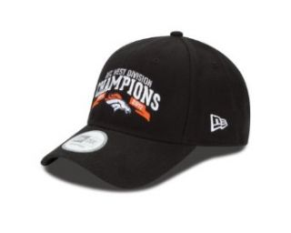 NFL Denver Broncos 2012 AFC West Division Champs 940 Adjustable Cap, Black, One Size Fits All  Clothing