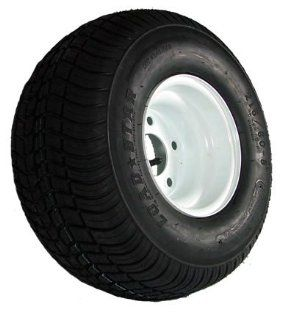 "5 hole 8"" x 7"" White Trailer Wheel & Tire (940 lb. capacity) Automotive"