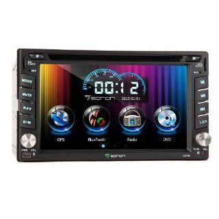 Eonon G2104u 6.2 Inch Double 2 DIN Car DVD Player with GPS System, Support Bluetooth, Ipod Input, Steering Wheel Control for Ad System, GPS Dual Zone, Touch Screen, Free Map for Us & Canada  In Dash Vehicle Gps Units