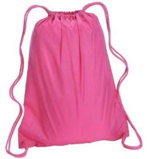 Liberty Bags Large Drawstring Backpack. 8882   One Size   Hot Pink Clothing