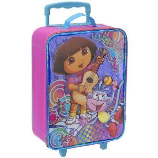 Dora the Explorer & Boots Girls Large Pink Rolling Luggage Suitcase Toys & Games