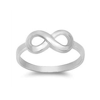 Brilliant 925 Sterling Silver Infinity Sign Ring, Friendship, Love, Summer, Spring, Fashion (6) Promise Rings Jewelry