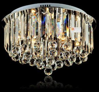 Modern K9 Crystal Ceiling Lamps Bright Bedroom Lighting Fixtures Chandeliers New 110v