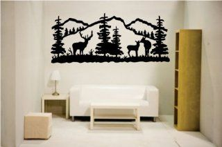 Newclew Elk deer nature mountain hunting removable Vinyl Wall Quote Decal Home D�cor Large   Wall Decor Stickers