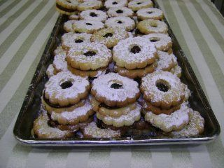 Linzer Tart Cookie  Fresh Bakery Butter Cookies  Grocery & Gourmet Food