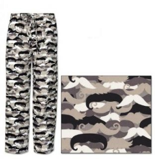 The Cat's Pajamas Men's Mustache Cotton Pajama Pants at  Men's Clothing store
