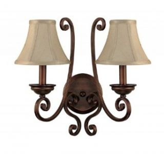 Capital Lighting 1772BB 413 Wall Sconce with Moonlit Mica Fabric Shades, Burnished Bronze Finish