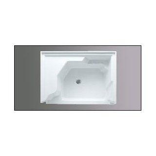 Americh A6036STSL WH 60 Inch x 36 Inch  Single Threshold w/Left Hand Seat Shower Base  Biscuit   Wh
