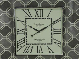 Tribeca Square Wall Clock with Roman Numerals