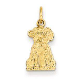 14k Puppy Charm, Best Quality Free Gift Box Satisfaction Guaranteed Pendant Necklaces Jewelry