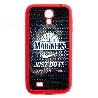 MLB Seattle Mariners Samsung Galaxy S4 I9500 TPU Hard Cover Case Nike Just Do It Snap On Cell Phones & Accessories
