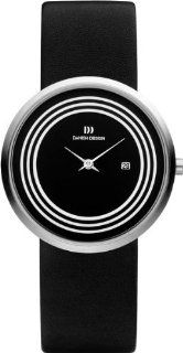 Danish Design IV13Q983 Stainless Steel Case Black Dial Leather Band Women's Watch at  Women's Watch store.