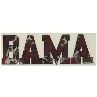 ALABAMA CRIMSON TIDE LOGO CAMO CAR WINDOW DECAL  Sports Fan Automotive Decals  Sports & Outdoors