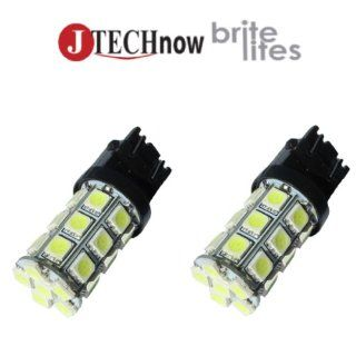 Jtech 2x T20 27 SMD5050 LED White Car Lights Bulb 992 992A 7441 7440A 7440NA 7440LL 7444 7444A Automotive